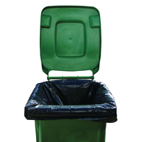 2Work Black Wheelie Bin Liners Pk100