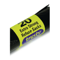 2Work Black Medium Duty Extra Strong Refuse Sacks (600 Pack)