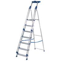 Abru Blue Seal 7 Tread Professional Aluminium Step Ladder 70507