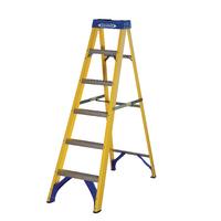 Abru Fibreglass Swingback Step Ladder 6 Tread Yellow 71606