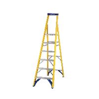 Abru Fibreglass Platform Stepladder 6 Tread Yellow 71706