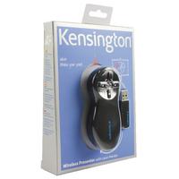 Image for Kensington Black/Chrome Wireless Presenter Red Laser 33374EU