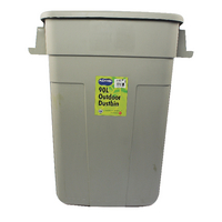 Image for Addis Grey 90 Litre Rectangular Dustbin Base 510894