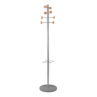 Image for Alba Timby Metal and Wood Coat Stand PMSATWM