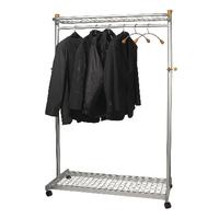 Alba Elegant Metal and Wood Garment Coat Rack PMLUX