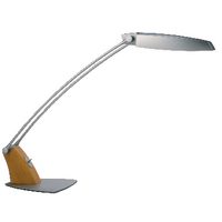 Image for Alba Tendo 11W Grey/Wood Fluorescent Desk Lamp FLUOTEN UK