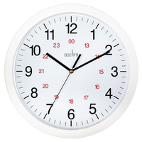 Image for Acctim White Metro 24 Hour Plastic Wall Clock 300mm 21162