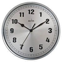 Acctim Ruben Wall Clock Chrome 27357