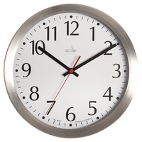 Acctim Javik 10 inch Aluminium Wall Clock 27417