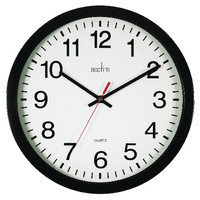 Image for Acctim Black Controller Silent Sweep Wall Clock 368mm 93/704B