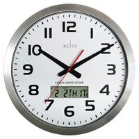 Acctim Meridian RC Wall Clock Aluminium 74447