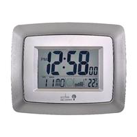 Acctim Silver/Black Avanti Radio Controlled Digital Clock 74467