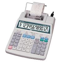 Aurora White 12-Digit Printing Calculator PR720