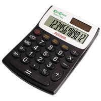 Aurora Black/White 12-Digit Semi-Desk Calculator EC404
