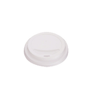 25cl White Lids for Rippled Hot Cup (1000 Pack) HHLIDS8