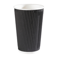 35cl Black Ripple Cup (500 Pack) HVRWBPA12