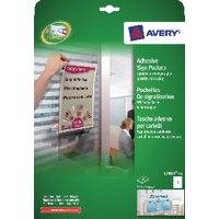 Avery Transparent Adhesive Sign Pockets (10 Pack) L7083-10