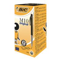 Image for Bic Clic Retractable Medium Black Ballpoint Pen (50 Pack) 901256