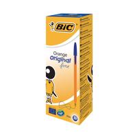 Image for Bic Orange Fine Blue Ink Ballpoint Pen (20 Pack) 1199110111