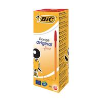 Image for Bic Orange Fine Red Ink Ballpoint Pen (20 Pack) 1199110112