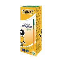 Image for Bic Orange Fine Green Ink Ballpoint Pen (20 Pack) 1199110113