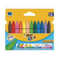 Image for Bic Assorted Plastidecor Triangle Crayons (12 Pack) 829773