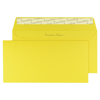 Banana Yellow DL Wallet Envelope Peel and Seal 120gsm (250 Pack)