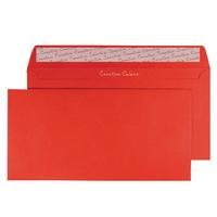 Pillar Box Red DL Wallet Envelope Peel and Seal 120gsm (250 Pack)
