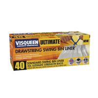 Visqueen Wht Draw Swing Bin Liner 30Ltr