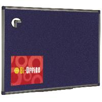 Image for Bi-Office 1200x900mm Blue Felt Board Aluminium Finish FB1443186