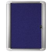 Image for Bi-Office 626x670mm Blue Felt Aluminium Frame External Display Case VT620107760