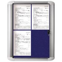 Image for Bi-Office 450x614mm Blue Felt Aluminium Frame External Display Case VT610107760