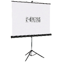 Image for Bi-Office Black Tripod 1250mm Projection Screen 9D006028