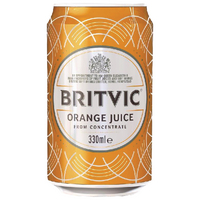 Britvic Orange Juice 330ml Can (24 Pack) 402045
