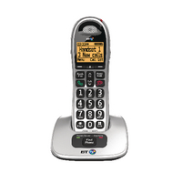 Image for BT BT4000 Single Big Button DECT Cordless Phone Silver/Black 069264