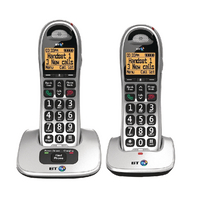 Image for BT BT4000 Twin Big Button DECT Cordless Phone Silver/Black 069265