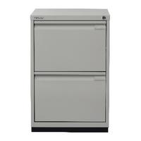 Image for Bisley 2 Drawer Filing Cabinet Desk Height Flush Fronted Lockable Goose Grey