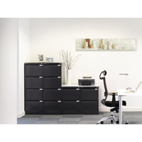 Bisley Black Two-Drawer Filing Cabinet BS2E Black