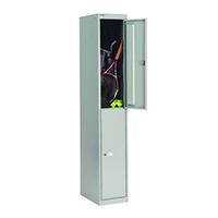 Bisley 2 Door Locker W305xD305xH1802mm Goose Grey