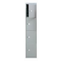 Bisley 4 Door Locker W305xD305xH1802mm Goose Grey