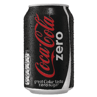 Coke Zero Soft Drink 330ml Cans (24 Pack) 402003
