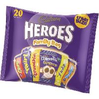 Cadburys Heroes Variety Bag A06966