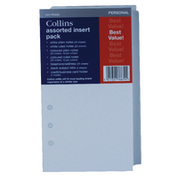 Image for Collins Personal Organiser Refill Assorted Inserts PR2022