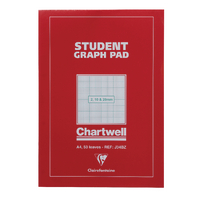 Image for Chartwell A4 Graph Pad 50 Leaf 2/10/20mm J34B