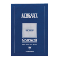 Image for Chartwell Blue Student Graph Pad 5mm Quadrille J6Q4B