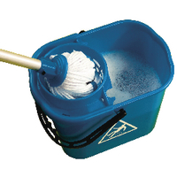 Blue Plastic Mop Bucket with Wringer 15 Litre 102946BU
