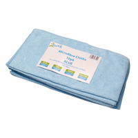 Image for 2Work Blue 400 x 400mm Microfibre Cloth (10 Pack) 101161BU