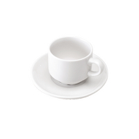 White Cup and Saucer (6 Pack) 305091
