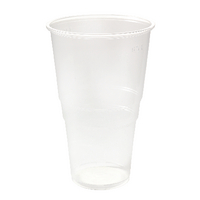 Plastic Pint Glass Clear (50 Pack) 0510043