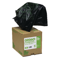 The Green Sack Heavy Duty Black Refuse Bags in Dispenser (75 Pack) GRO601